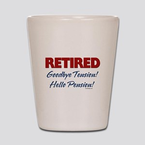 Retired Goodbye Tension Shot Glass
